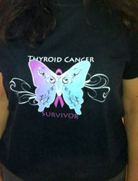 Thyroid Cancer Awareness Survivor T-Shirts