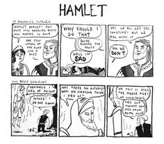 ... Hamlet comes back as a ghost, asking young hamlet to avenge his death
