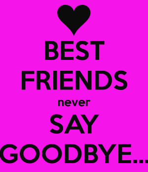 Best Friends Never Say Goodbye