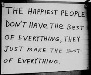 The Happiest People...