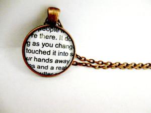 Fahrenheit 451 Quote Book Jewelry Book Necklace Book Pendant - Book ...