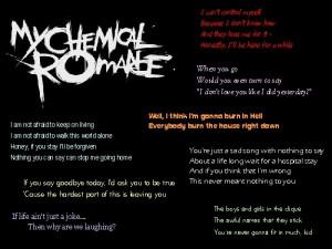 My Chemical Romance Lyrics Image