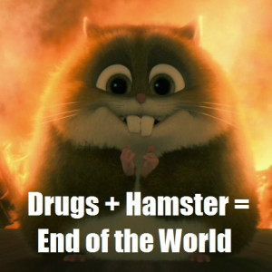 Drugs+Hamster - disneys-bolt-funny-pictures Photo