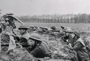 British Soldiers Fighting in Trenches: Illustrating the closeness of ...