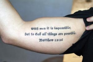 Christian Quotes Tattoo Art (13)