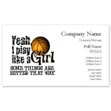 Unique Basketball sayings Business Cards