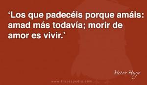 Frases de amor de Victor Hugo
