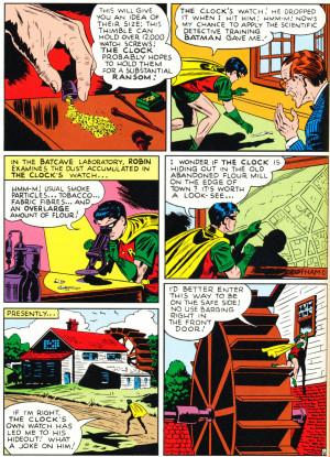 Batman Comic Quotes It as a batman story,