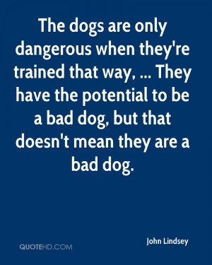 ... Potential To Be A Bad Dog, But That Doesn't Mean They Are A Bad Dog