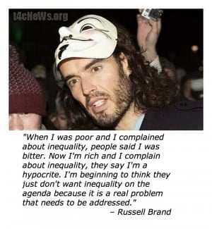 Russell Brand's Brilliant Quote About Inequality In One Easily ...
