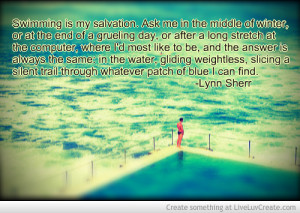 Swimming Quotes For Swimmers lynn sherr quote on swimming-