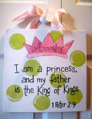 Princess Baby Girl Bible Verse Canvas Sign. $25.00, via Etsy. I mean I ...