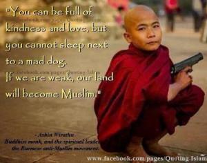 Myanmar Buddhist Monk Wirathu Quote