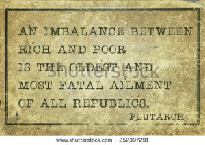 An imbalance between rich and poor - ancient Greek philosopher ...