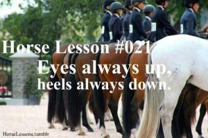 horse lesson nr. 21