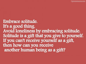 Solitude Vs Loneliness