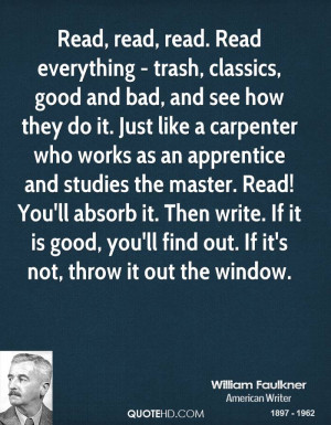 ... write. If it is good, you'll find out. If it's not, throw it out the