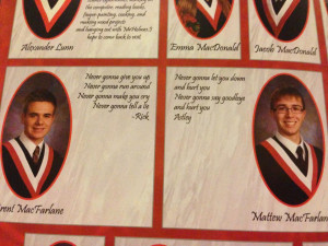 twin brothers that are buddies of mine did this for their yearbook ...