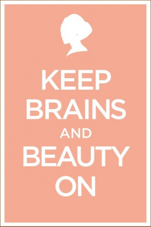 Brains and Beauty. YES!