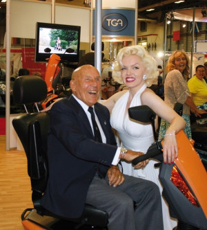 Sir Stirling Moss Visits TGA At The Mobility Roadshow 2010