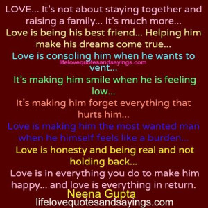 Love Is In Everything You Do..