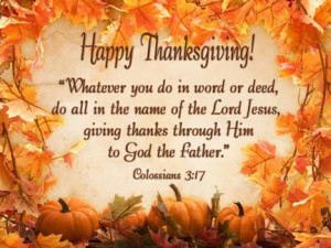 Christian Thanksgiving Quotes Happy thanksgiving from the