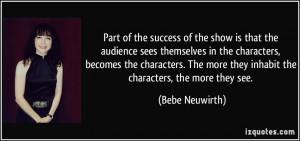 More Bebe Neuwirth Quotes