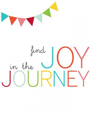 Joy in the Journey Printable