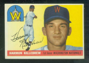 1955 Topps #124 Harmon Killebrew ROOKIE [#a] (Senators) Baseball cards ...