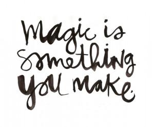 black, black and white, magic, quote, text, white