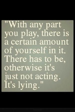 Acting. Johnny Depp quote.