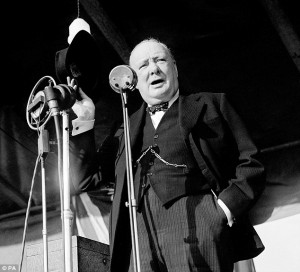 ... Churchill's wartime speeches had on the British public in a new book