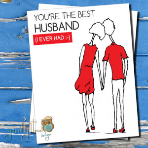 ... thinking of you,Cute, funny, husband & wife card, cards for spouses