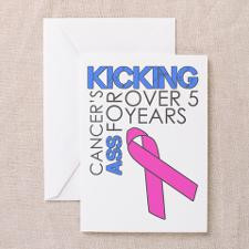 KickingCancer1Year Greeting Card for