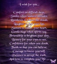 "Prayers of Friendship and Support | Wish"" Poem for Fibromyalgia ..."