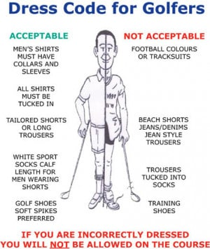 Dressing the Part - The Ludicrous Golfing Dress Code.