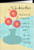 Godmother Happy Birthday Flower Vase card Product 690835