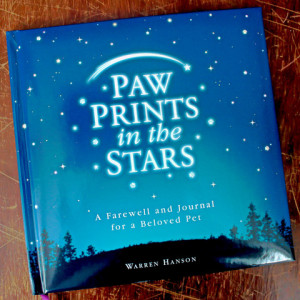 20.00 Pet Loss Sympathy Gift Book - Paw Prints in the Stars