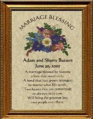 beautiful wedding gift or anniversary gift marriage prayer framed at ...