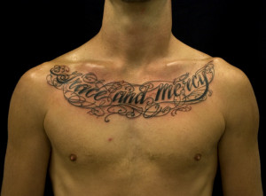 Notice that most chest tattoo designs consist of text-only quotes. Be ...