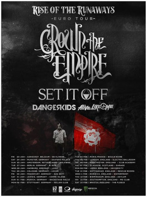 Crown the Empire Announce 2015 Europe Tour