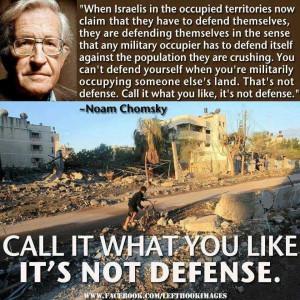 QUOTE: Noam Chomsky on Palestine