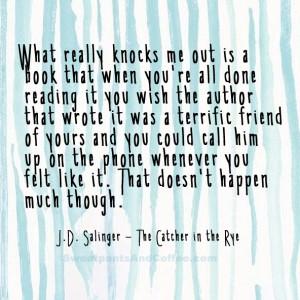 Jd salinger style of writing