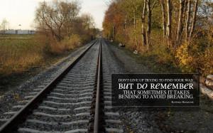 Historic Railroad And Memories Of Spiritual Quote