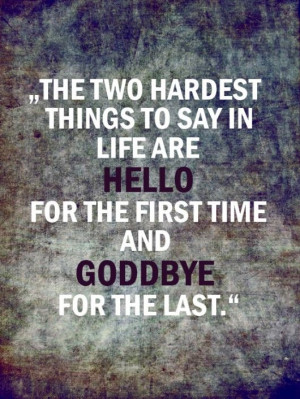 Hello-goodbye...very true: Military Spouse, Hardest Things, First Time ...
