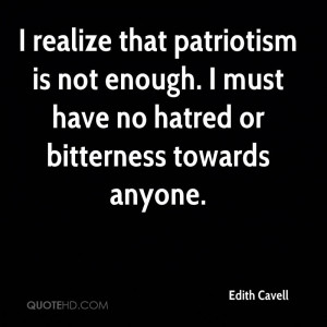 Edith Cavell Patriotism Quotes