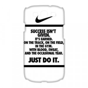 NIKE QUOTE JUST DO IT Galaxy S3 cases case from Good luck