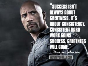 dwayne johnson the rock dwayne johnson quotes bodybuilding success ...
