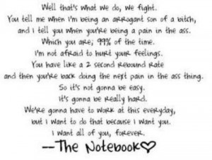 The Notebook Quotes The notebook