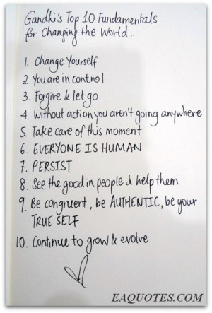 Ghandi's top fundamental quotes